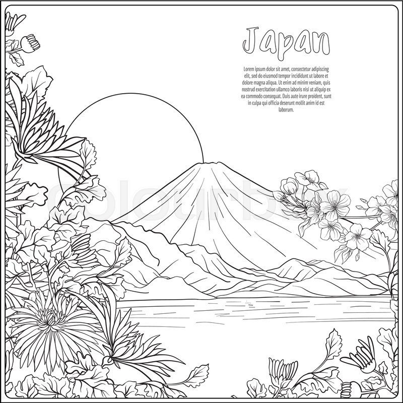 800x800 Japanese Landscape With Mount Fujind Tradition Flowersnd