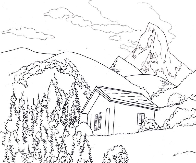 800x666 Make Digital Landscape Illustration For You Landscape Illustration