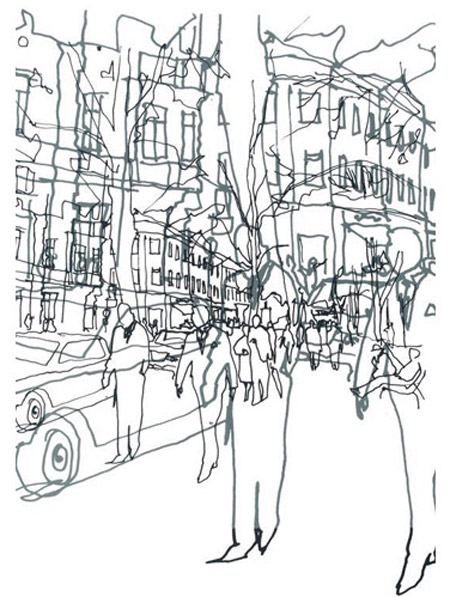 450x597 Continuous Line Continuous Line Drawing Sketches