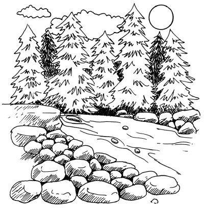 Landscape Pastel Drawing