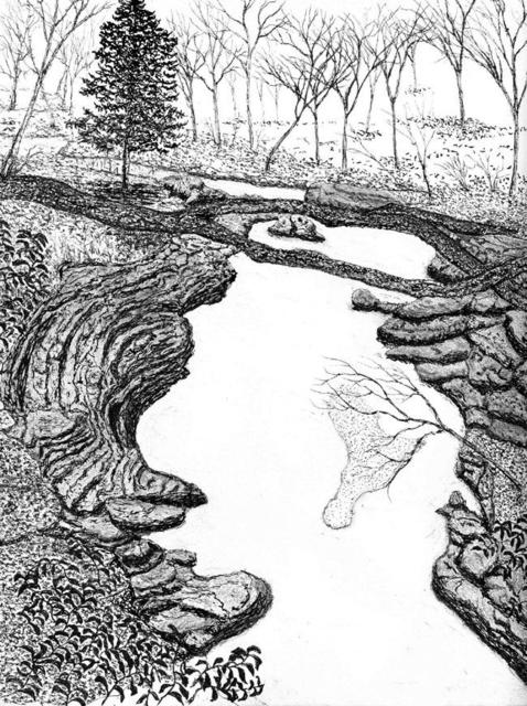 478x640 James Parker Artwork Nc Small Gorge Original Drawing Pen