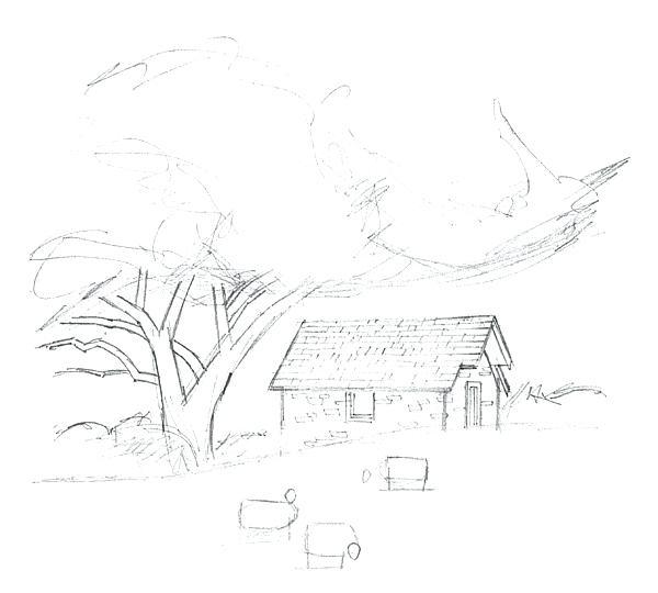600x540 Landscape Drawing Oil Pastel Landscape Design Software Free