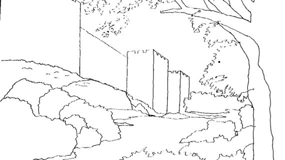 570x320 Line Drawing Landscape How To Draw A Landscape Pastel Pencils