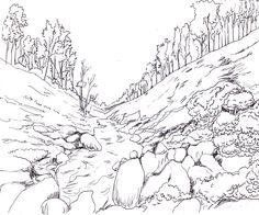 236x196 Make Digital Landscape Illustration For You Landscape Illustration