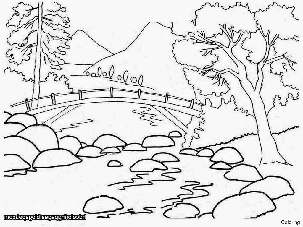 1024x768 Scenery Drawings For Kids Drawing Printable Editable Blank