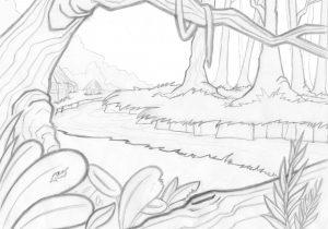 300x210 Jungle Landscape Drawing Drawn Jungle Jungle Landscape