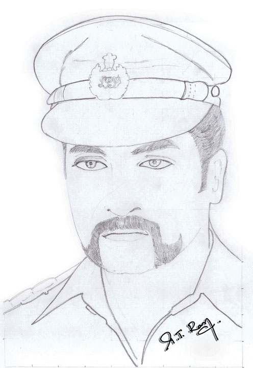 496x720 Pencil Sketch Of Actor Surya