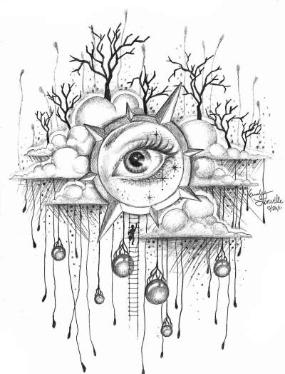 400x524 Reach Teen Pen Amp Ink About Abstract, Landscapes, Nature, Objects