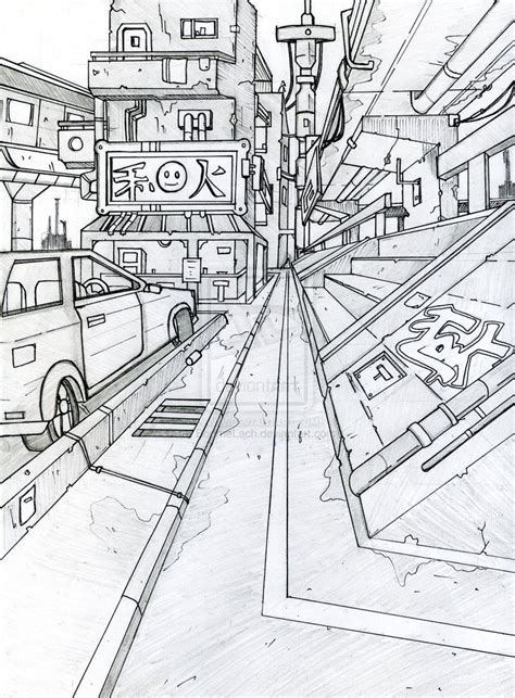 474x643 One Point Perspective Study 2 By Katunsworth On , One