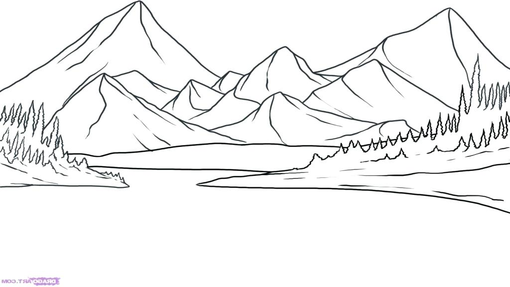 1024x576 Simple Landscape Drawing Medium Size Full Size Back To Simple