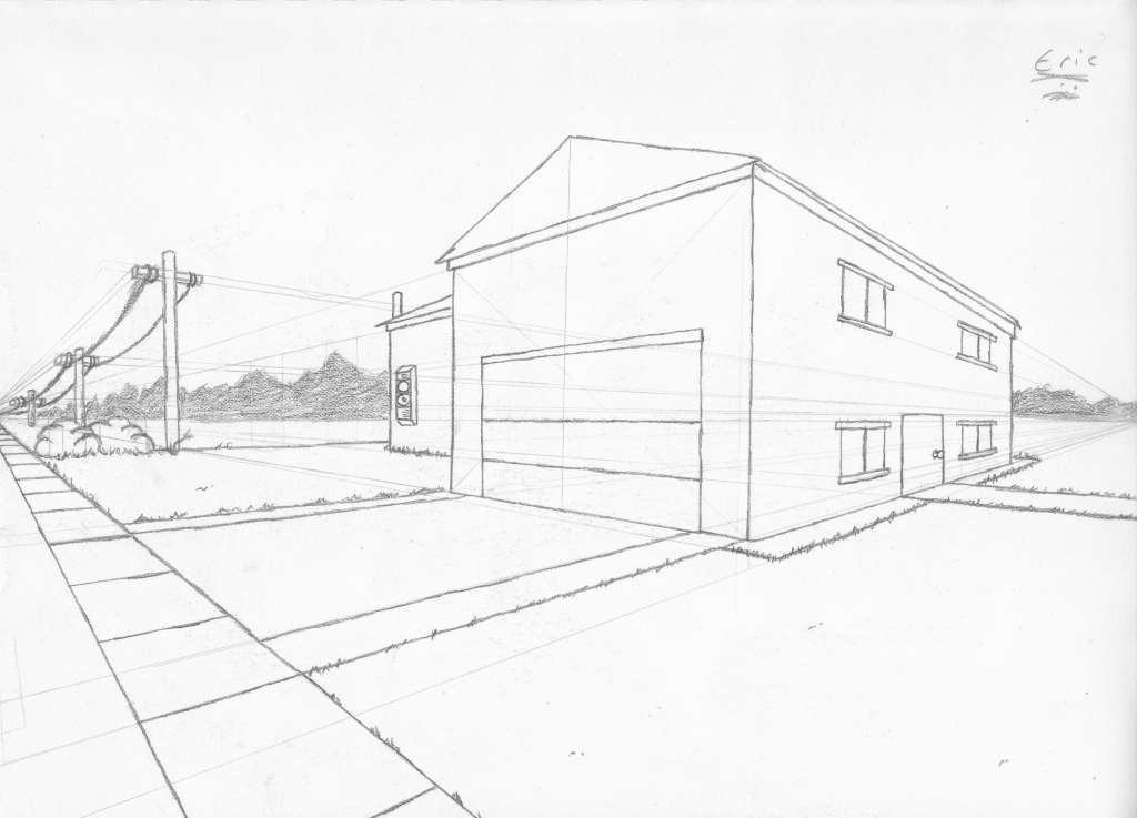 1024x737 Two Point Perspective Landscape Landscape Drawings Tntjperic