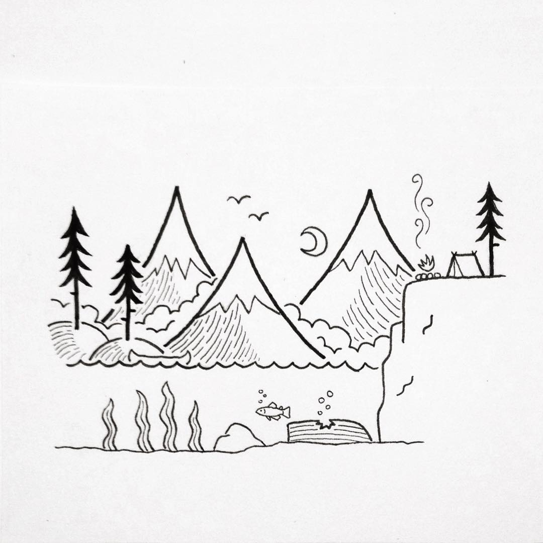 Landscape Simple Drawing