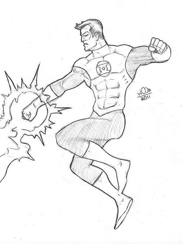 602x800 Green Lantern Pencil Sketch By Kongspencil