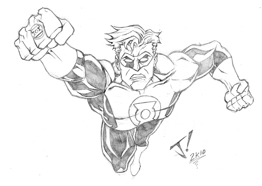 900x638 Green Lantern Sketch By Jayodjick