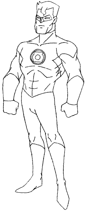 300x735 How To Draw Green Lantern From Dc Comics With Step By Step Drawing