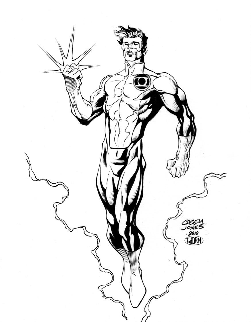 874x1122 Jones Green Lantern Inks By Madman1