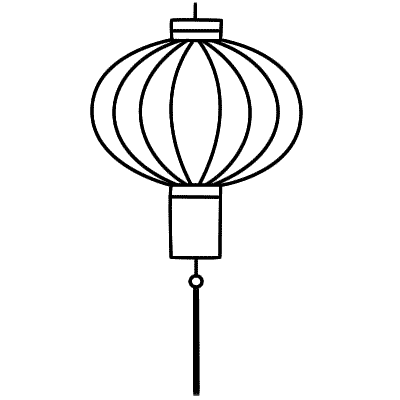 400x400 Simple Chinese Lantern Clipart Chinese Lanterns Drawing Clipart