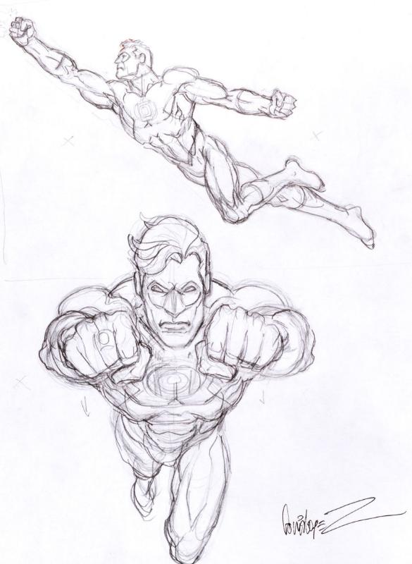 585x800 Green Lantern Pencil Sketch By Jose Luis Garcia Lopez Comic Art