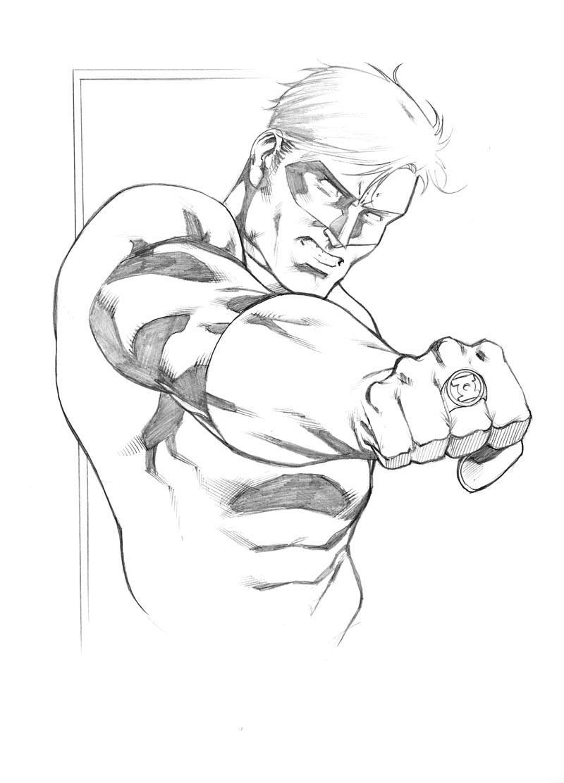 800x1112 Green Lantern Sketch By Robert Atkins Comic Book