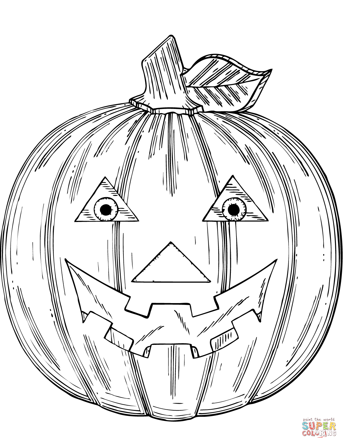 1159x1500 Jack O' Lantern Coloring Page Free Printable Coloring Pages
