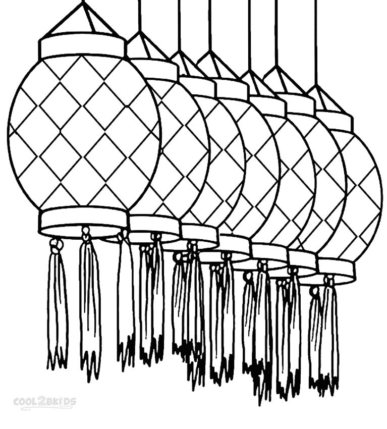 767x850 Chinese New Year Lantern Coloring Pages Cool2bkids