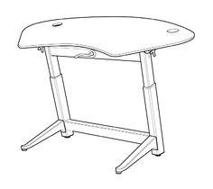 236x210 Diy Adjustable Standing Desk Desks, Desk Plans And Garage Workshop