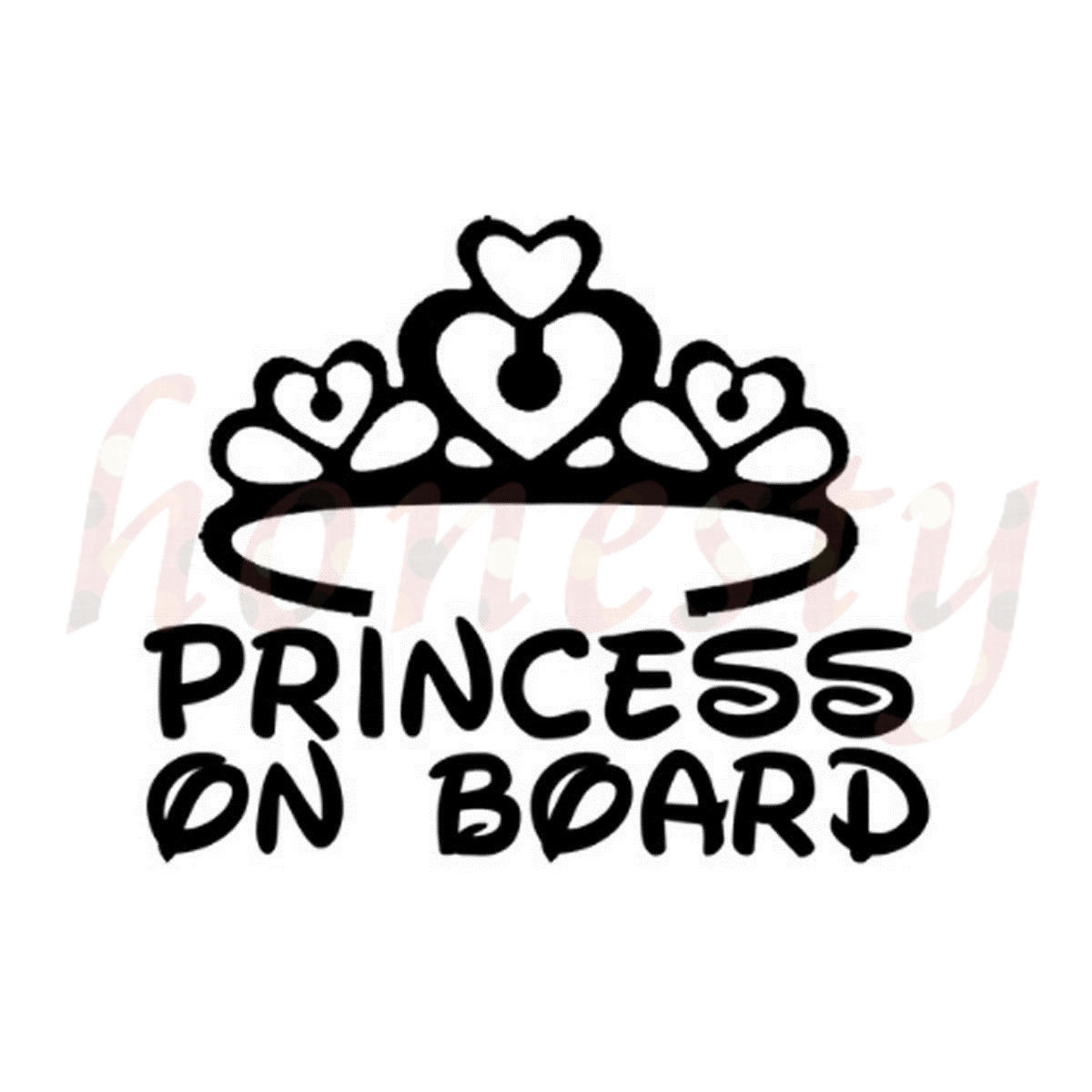 1200x1200 Princess On Board Baby Home Truck Van Wall Sticker Glass Laptop