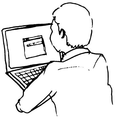 406x420 Man Using Laptop