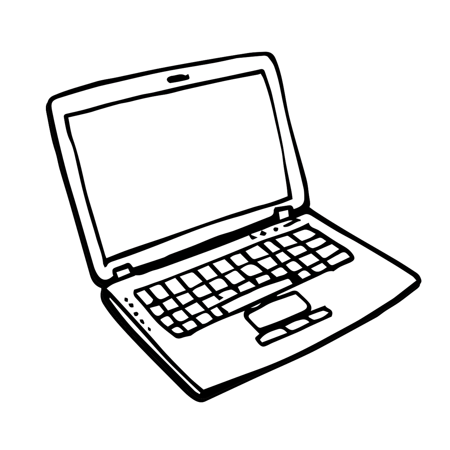 Line Art Laptop : Laptop line drawing at getdrawings free for personal