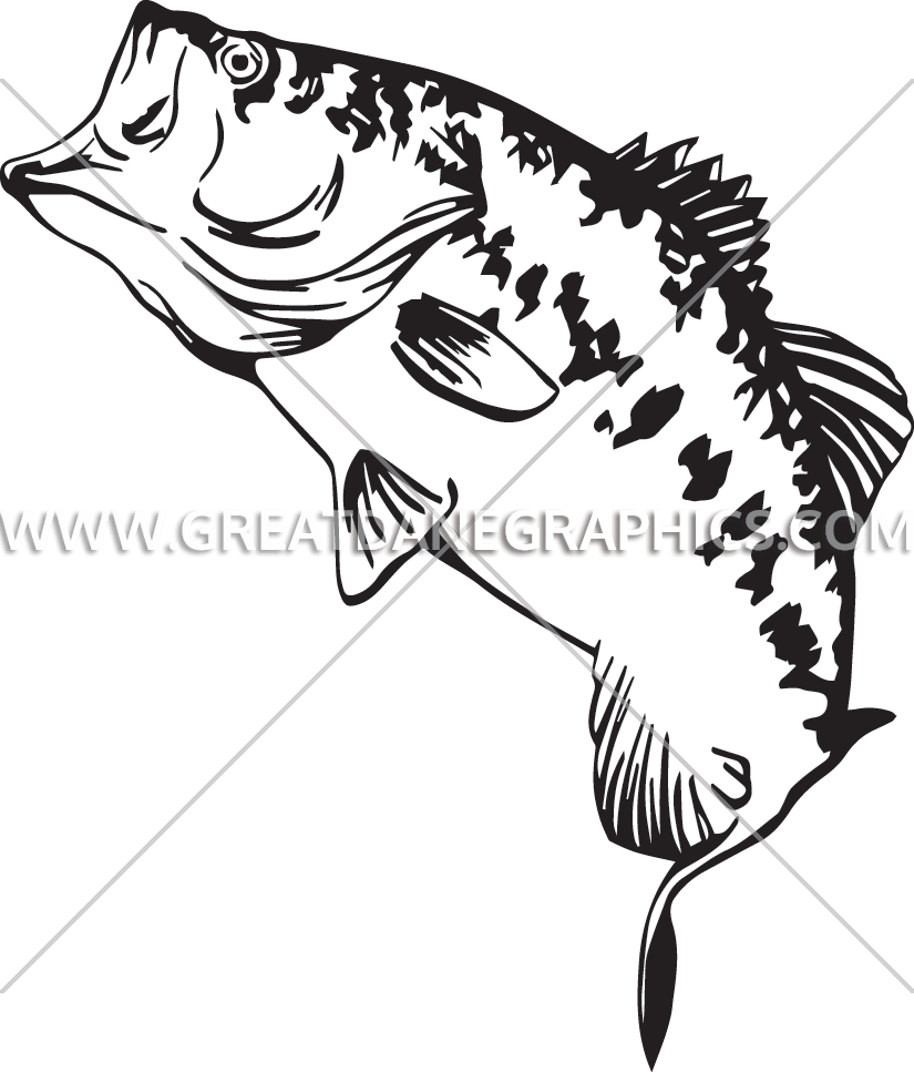 825x967 Large Mouth Bass Production Ready Artwork For T Shirt Printing