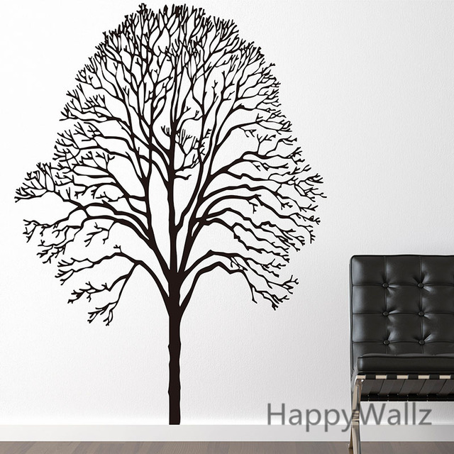 640x640 Large Tree Wall Sticker Tree Wall Decal Diy Decorating Family Tree