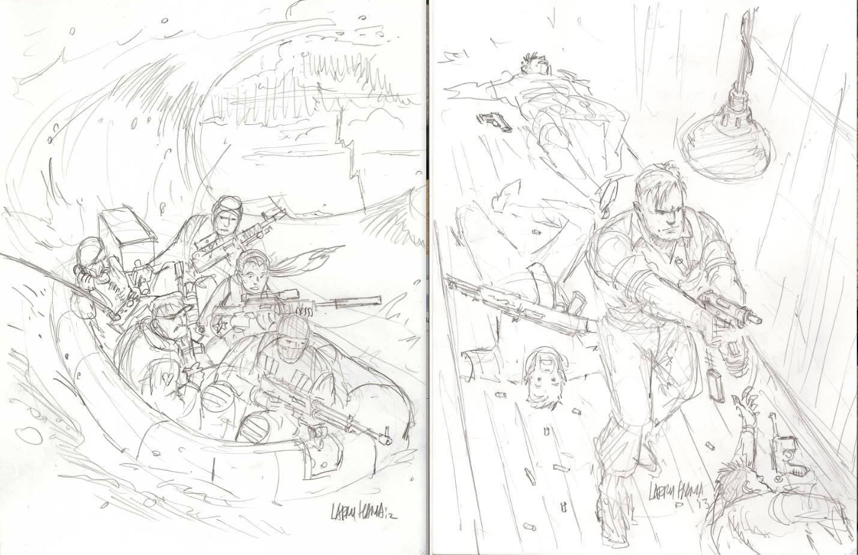 1429x924 Larry Hama Cover Sketch For Arah Comic 188 On Ebay