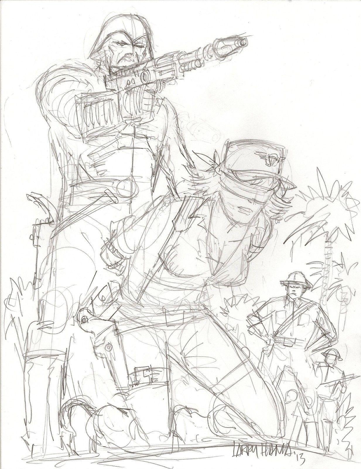 1233x1600 Larry Hama Cover Sketch For G.i.joe Arah Comic 190 And 198 Ending