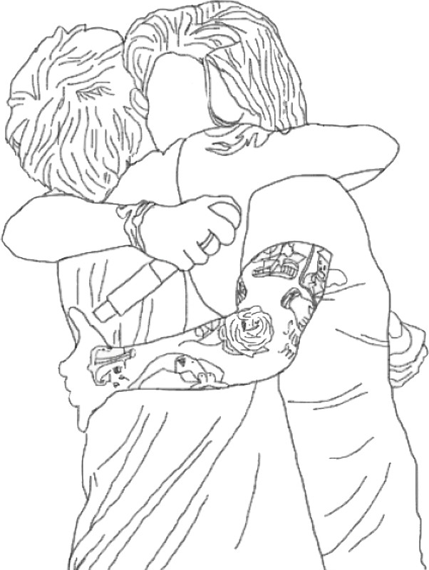 602x800 Larry Hug Stickers By Sophialily Redbubble