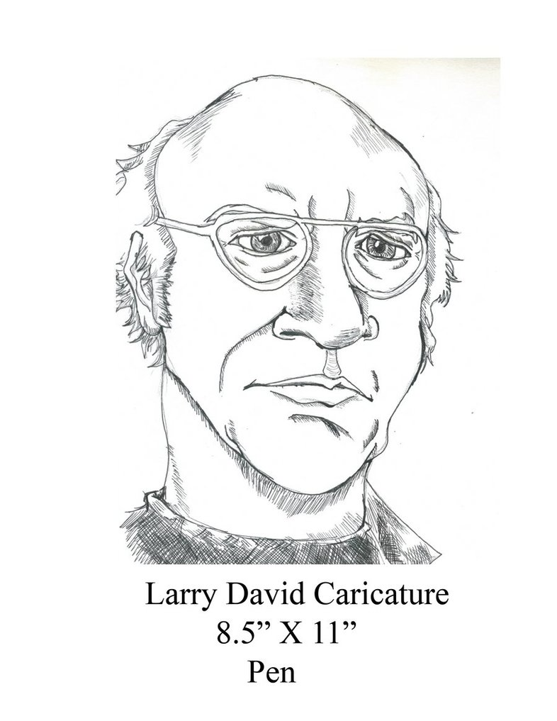 786x1017 Larry David Drawing By Djones502