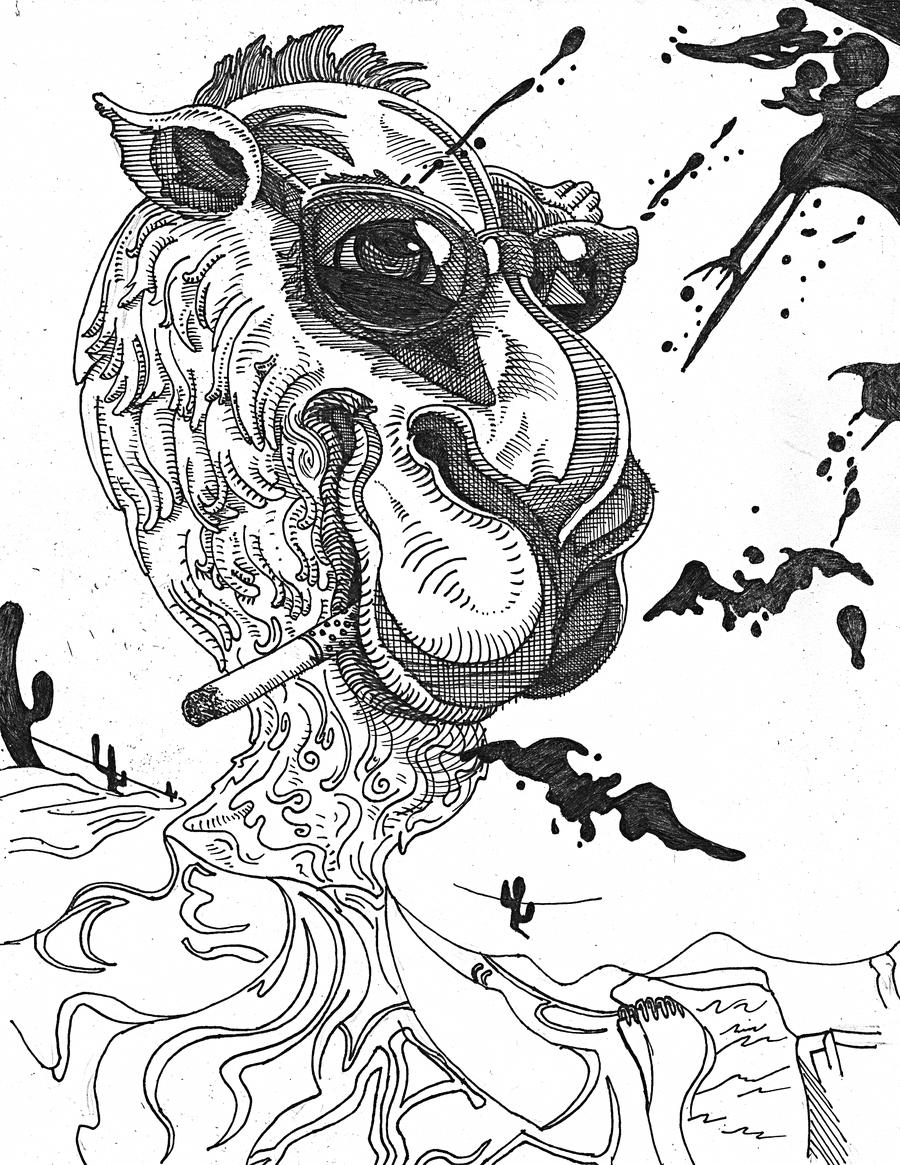 900x1165 Joe Camel Fear And Loathing In Las Vegas By Phantasmal Horror