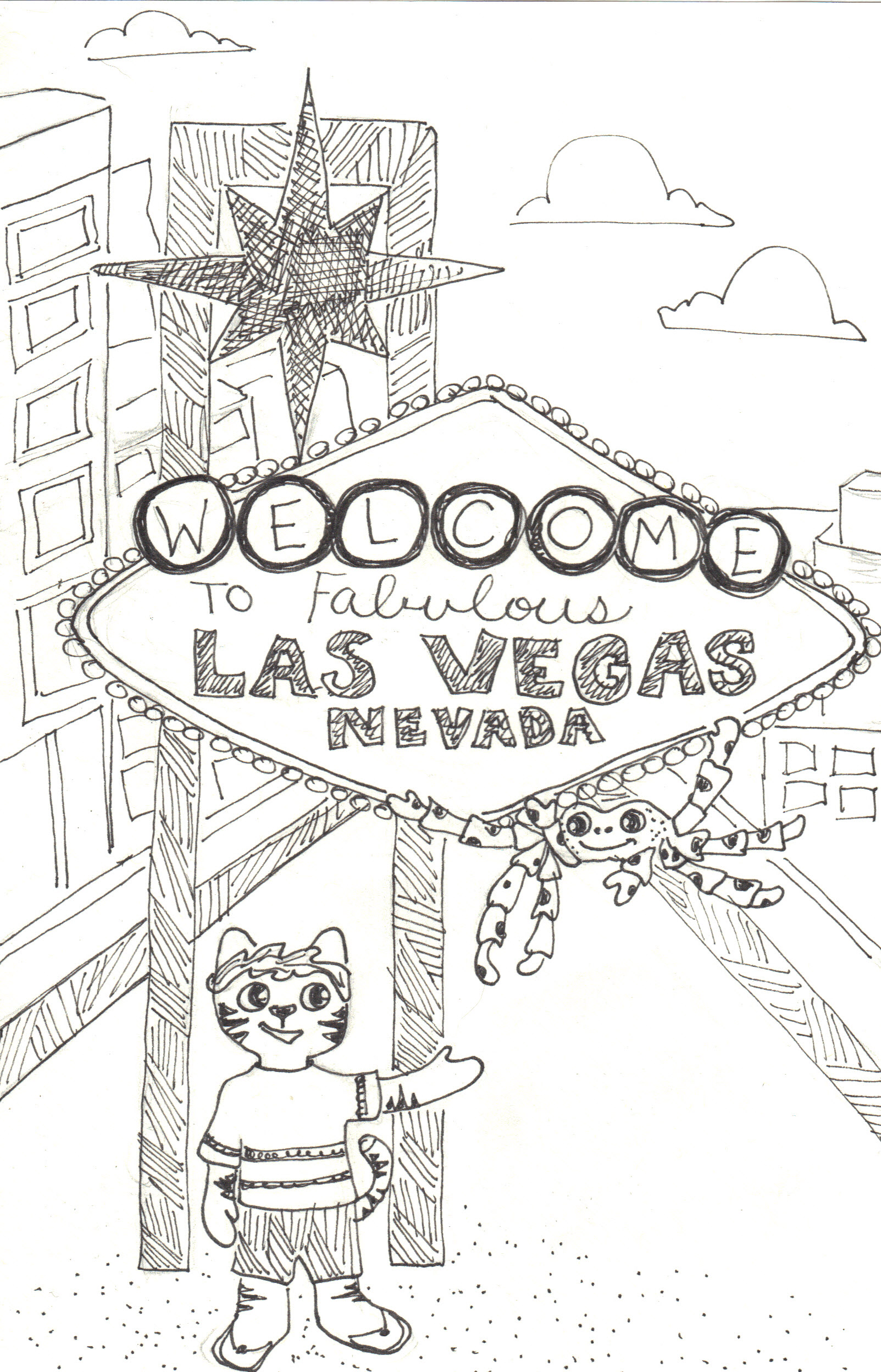 Las Vegas Drawing at GetDrawings.com | Free for personal use Las ...