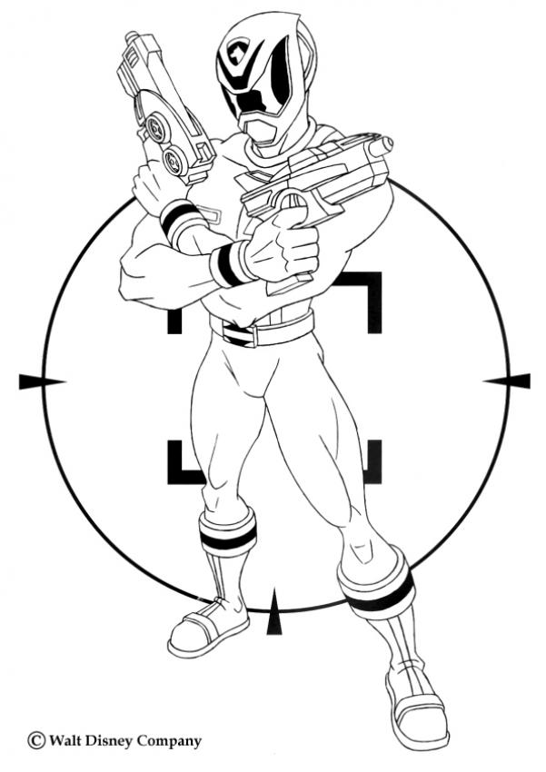 601x850 Power Ranger With Laser Guns Coloring Page. Nice Coloring Sheet