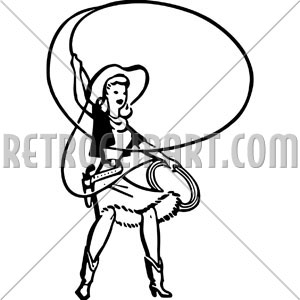 300x300 Cowgirl With Lasso,