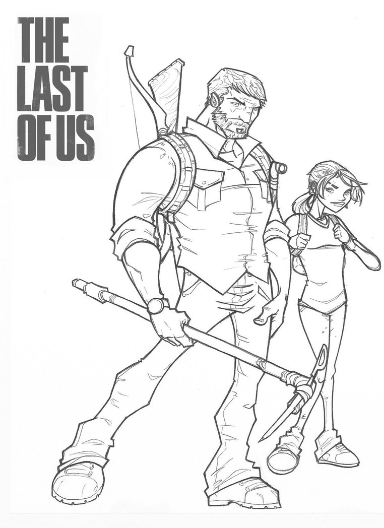 762x1048 Joel And Ellie From The Last Of Us By Davidstonecipher