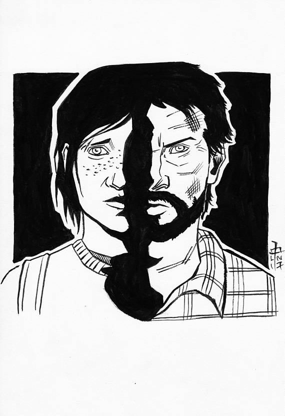 570x831 The Last Of Us 7 X 10 Drawing