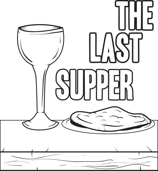 647x700 Free Printable The Last Supper Coloring Page For Kids