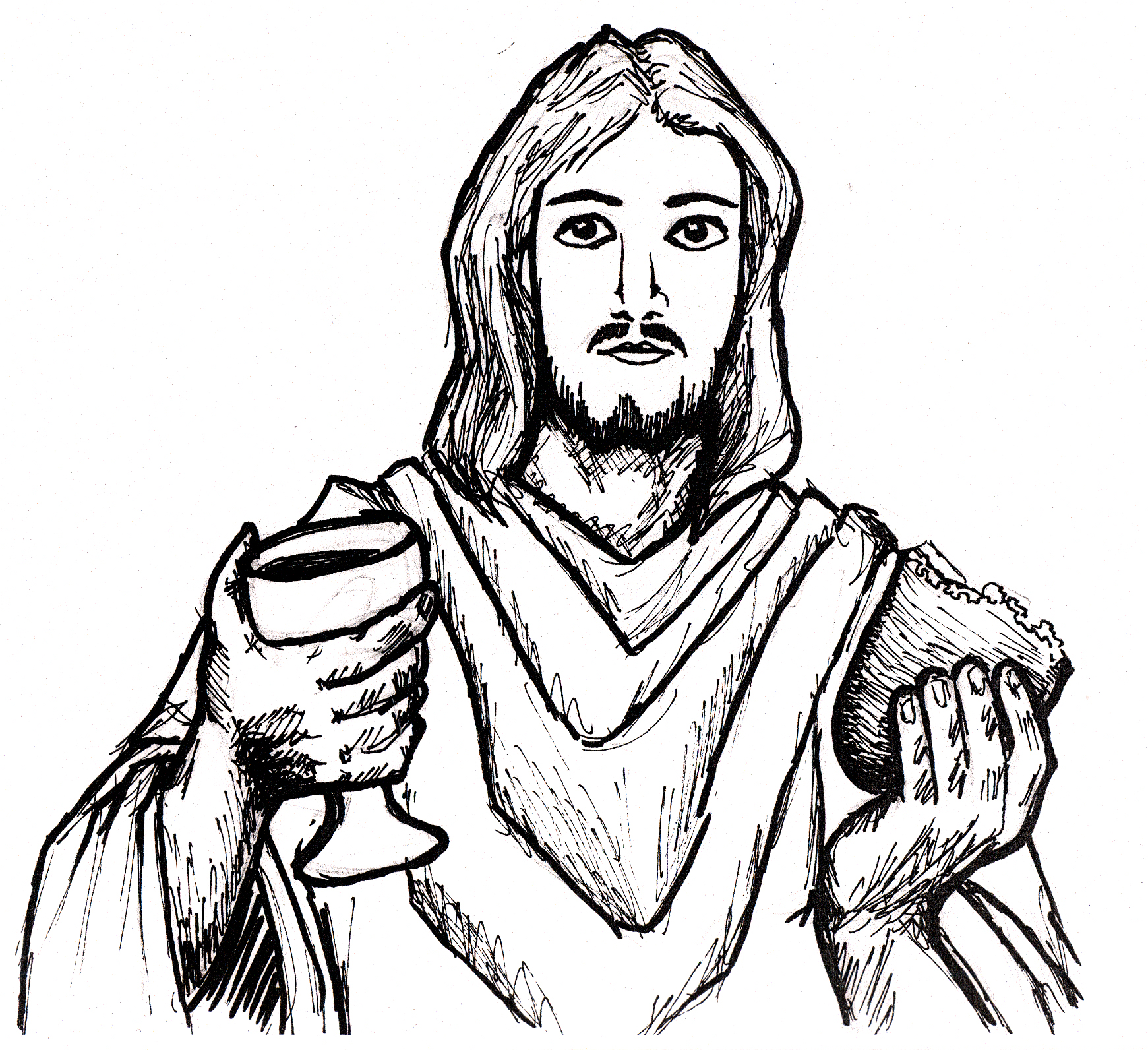 1741x1592 Jesus Last Supper Drawing Sketch Coloring Page