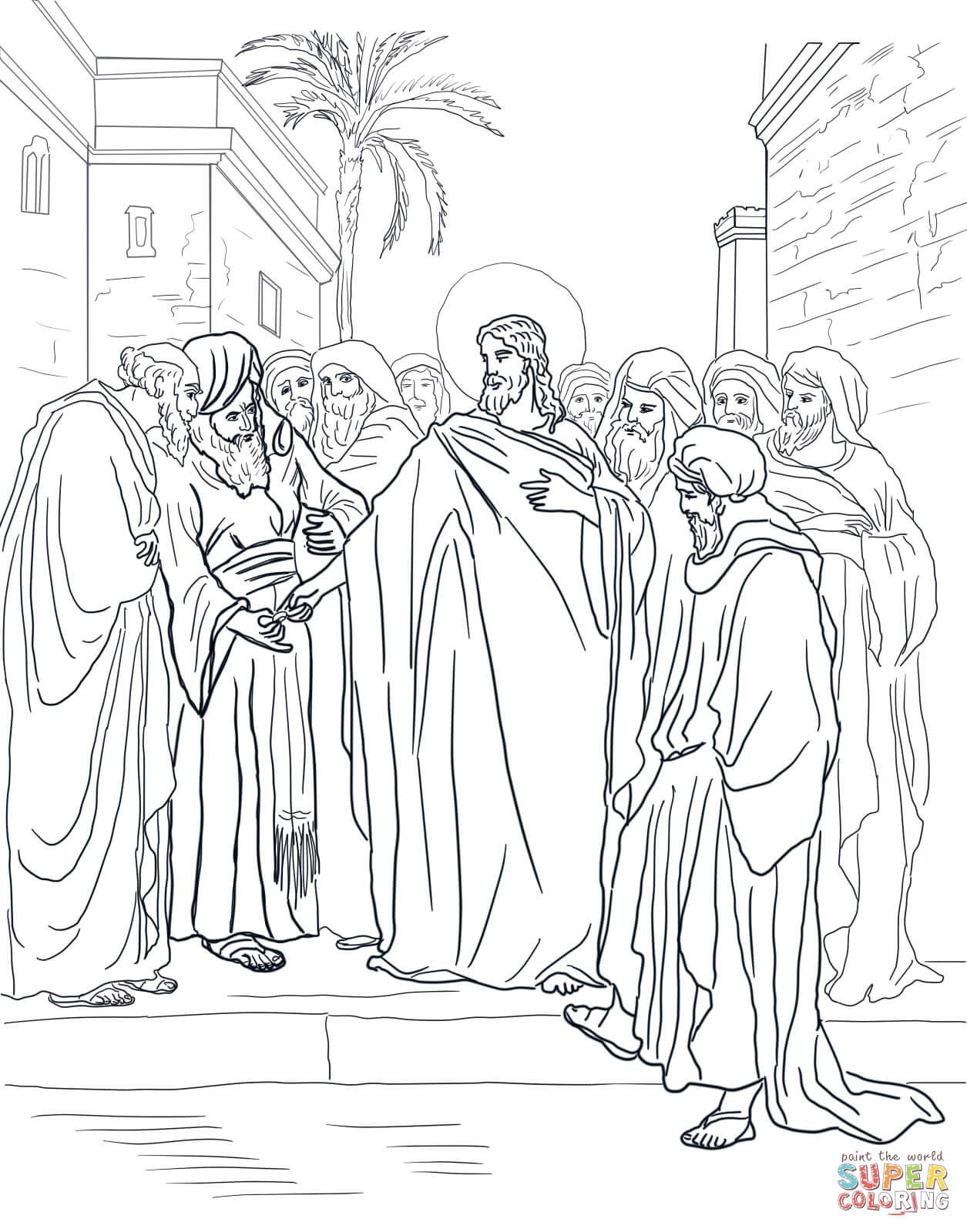 1255x1600 Last Supper Coloring Pages Free Draw To Color