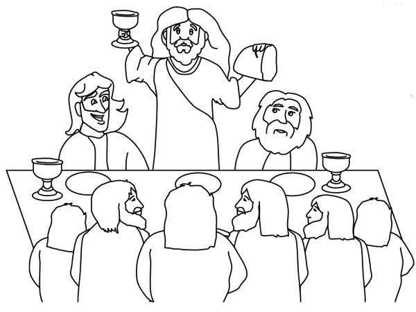 600x450 Last Supper Of Jesus Coloring Page Catholic