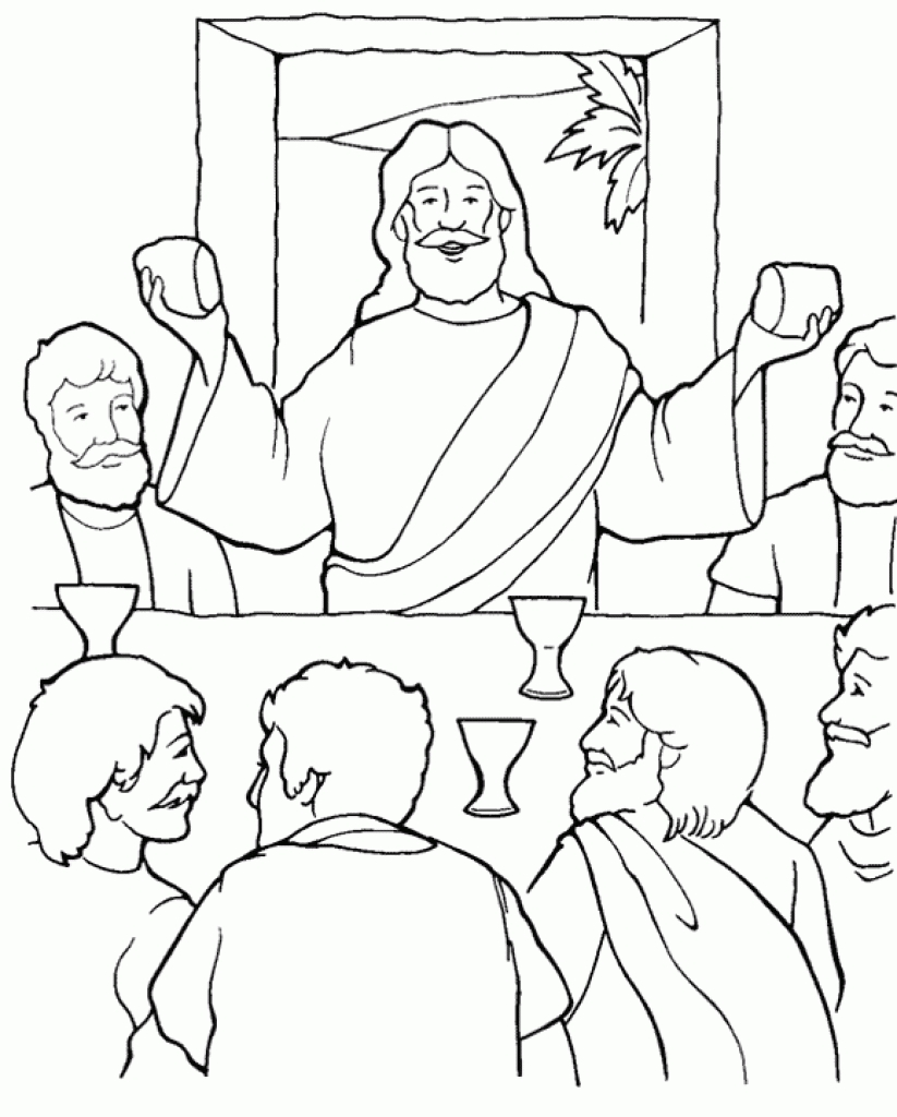 823x1024 The Last Supper Coloring Pagetended To Motivate
