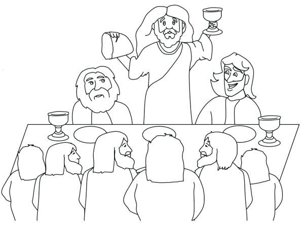 600x450 The Last Supper Coloring Page