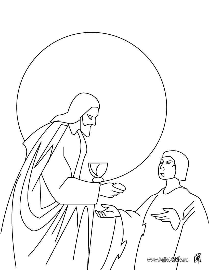 820x1060 The Last Supper Coloring Pages