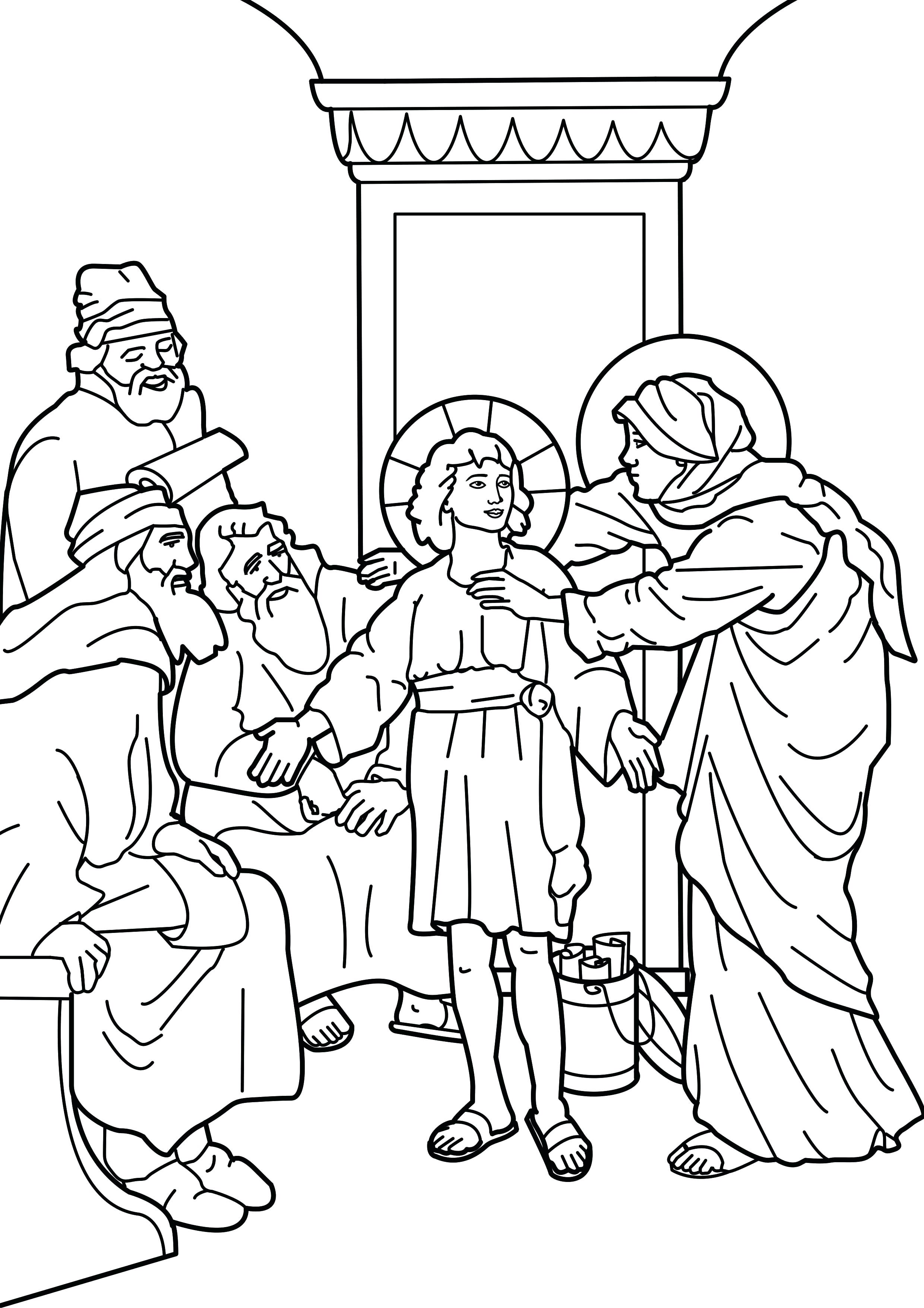 2480x3508 Coloring Last Supper Coloring Page