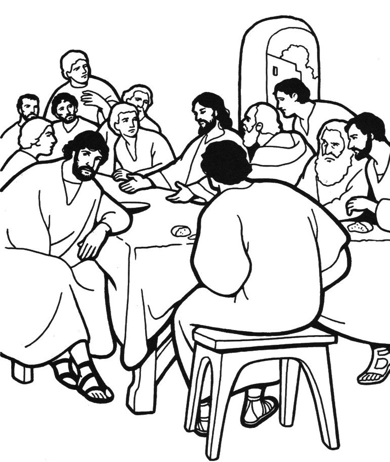769x910 Last Supper Coloring Page